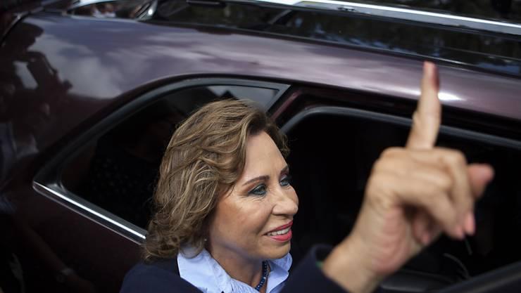 Könnte die erste Frau im Präsidentenamt von Guatemala werden: die Sozialdemokratin Sandra Torres.