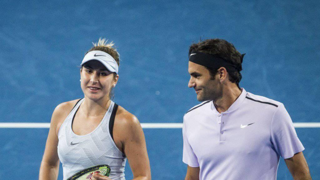 Spielen am Samstag für die Schweiz um den Sieg am Hopman Cup: Belinda Bencic und Roger Federer
