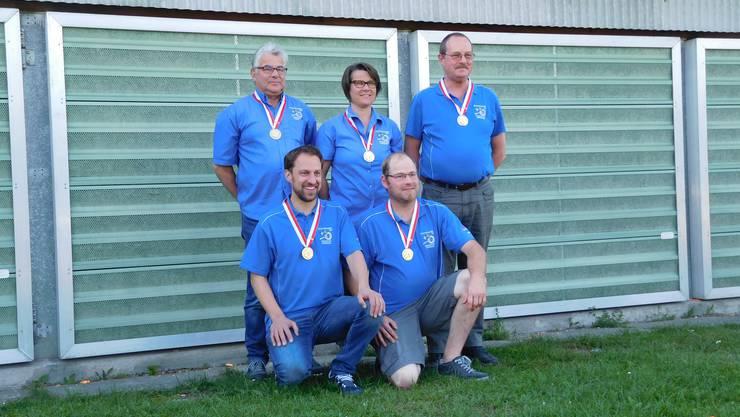 v.l. Flück Peter, Nicklaus Jörg, Flück Helen, Flück Matias, Büttler Ueli