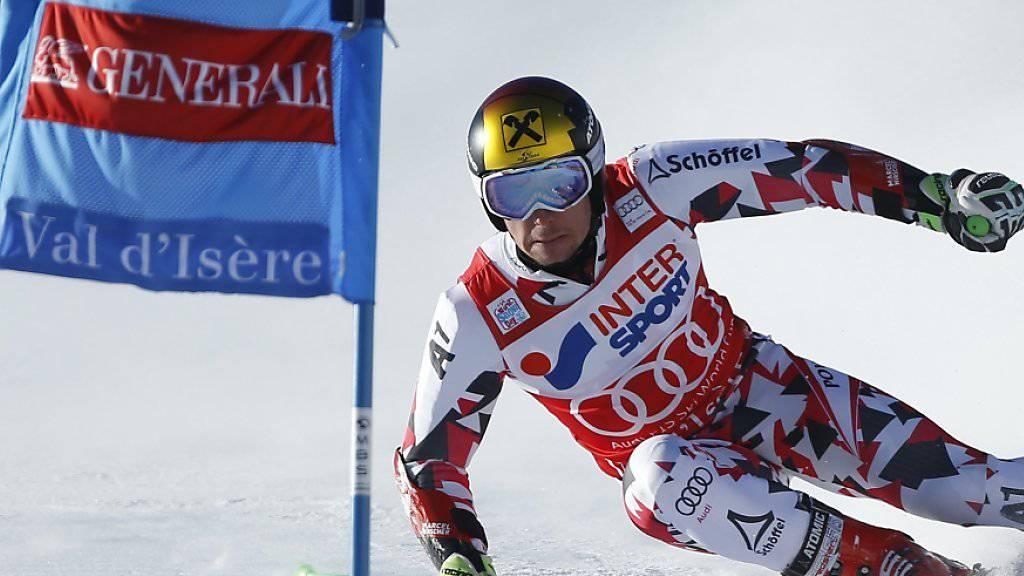Marcel Hirscher auf dem Weg zu seinem dritten Saisonsieg