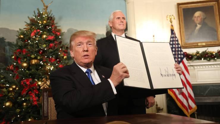 Trump anerkennt Jerusalem als Hauptstadt von Israel.