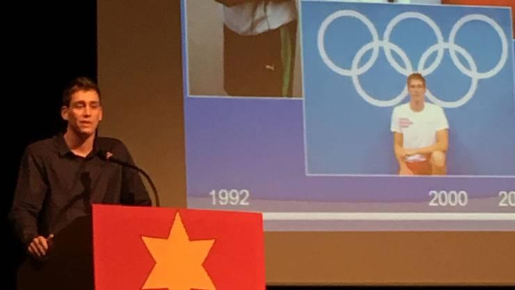 Gastredner Yannick Käser berichtete von seinen Olympia-Erlebnissen. zvg