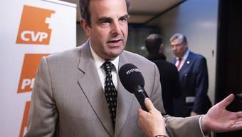 CVP-Präsident Gerhard Pfister sieht seine Partei im Aufwärtstrend, zeigt sich aber gleichzeitig selbstkritisch. Er bewertet seine Rolle mit der Note vier von zehn. (Archivbild)