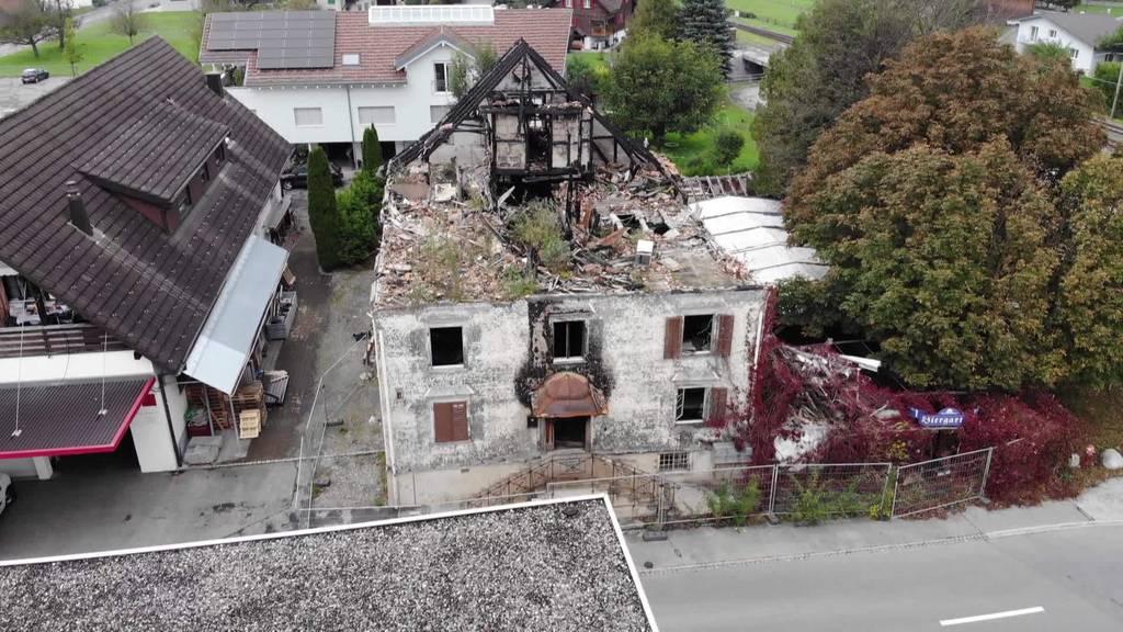 Ungelöst: Brandruine in Oberriet erinnert an Brandstiftung