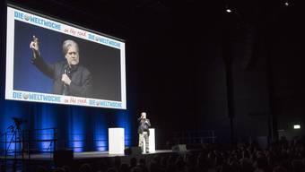 Steve Bannon am Dienstagabend in Zürich.