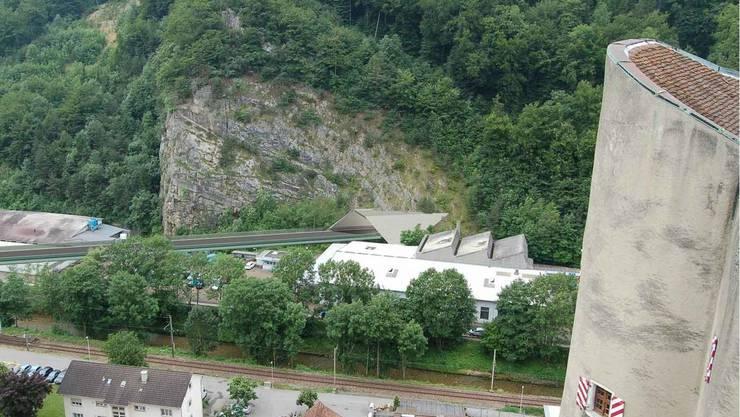 So wird das Südportal des Tunnels in Balsthal visualisiert.