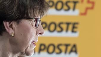 Post-Chefin Susanne Ruoff ist wegen des Buchungsskandals bei Postauto per sofort zurückgetreten.