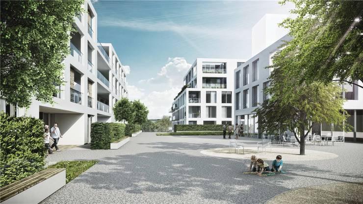 130 Wohnungen soll die Brisgi-Überbauung bieten, wenn sei fertig ist. zvg