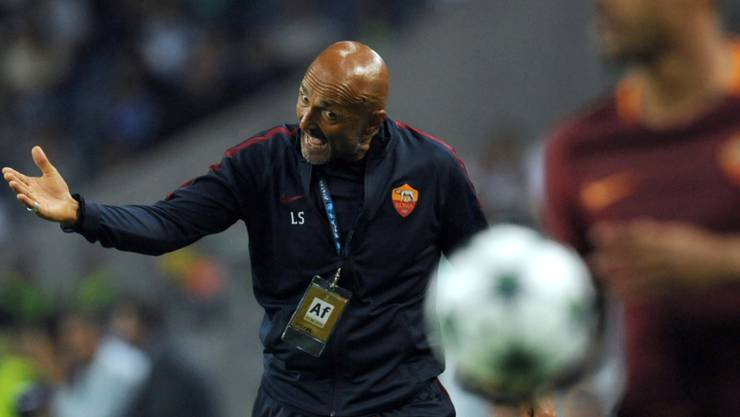 Romas Trainer Luciano Spalletti im Element