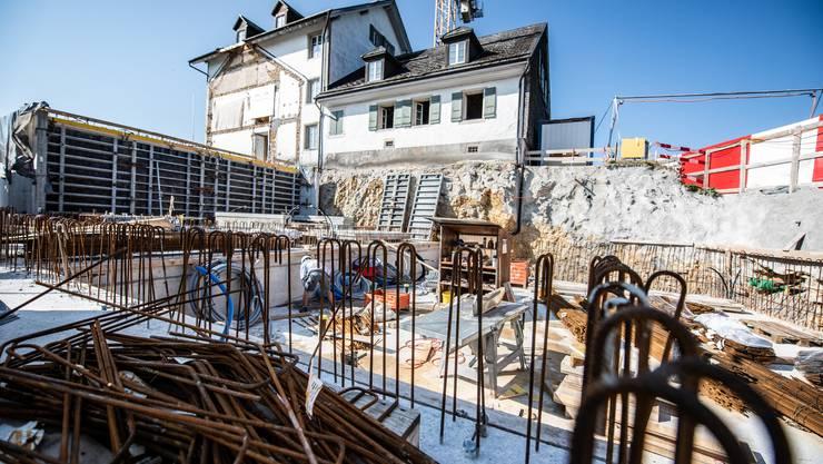 Baustellenbesichtigung beim Kurhaus Weissenstein am 20. August 2018