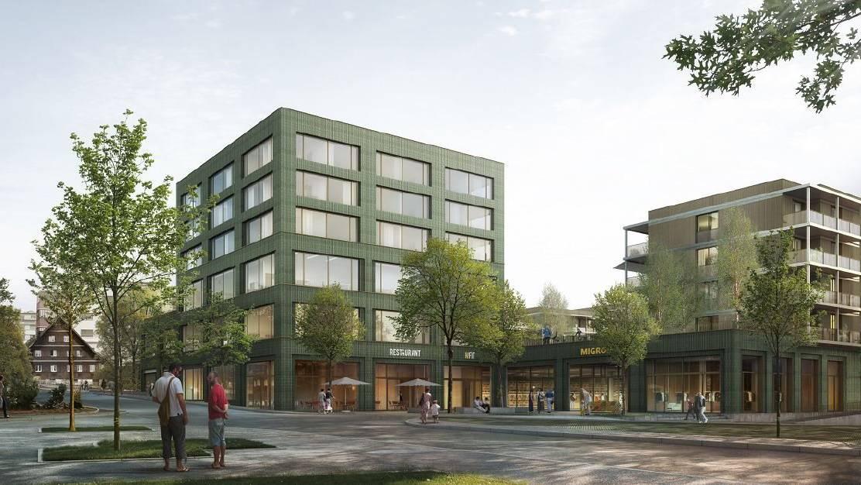 Die Überbauung Birkenhof in Uzwil.