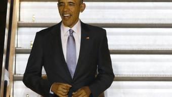 US-Präsident Barack Obama am Donnerstagabend bei der Ankunft in London.