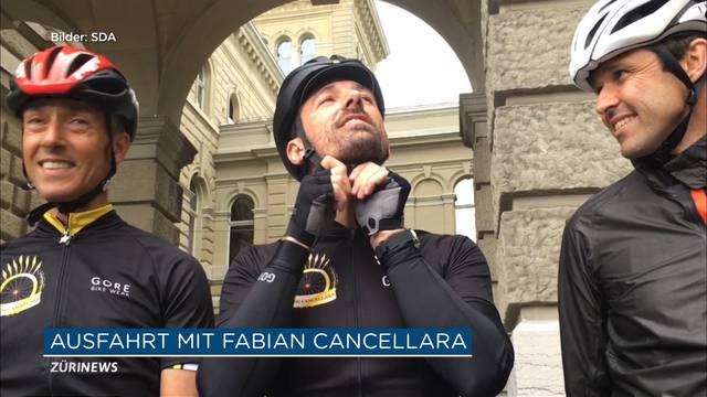 Politiker fahren Velo mit Fabian Cancellara