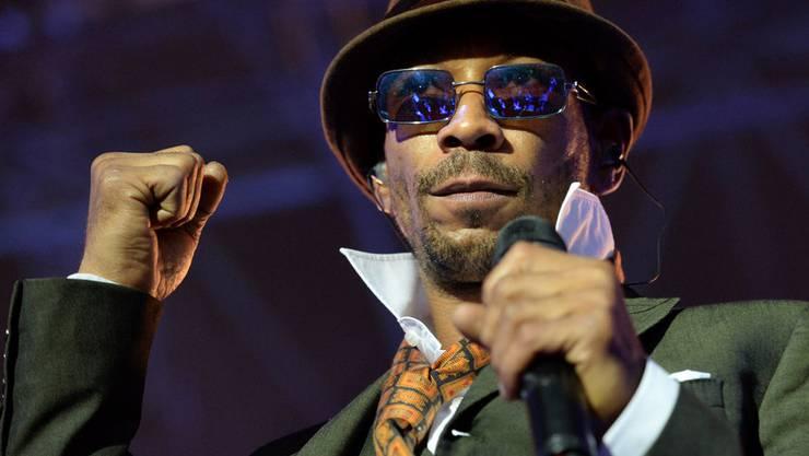 Die Bühne war sein Element: Seeed-Frontsänger Demba Nabé im Jahr 2013.