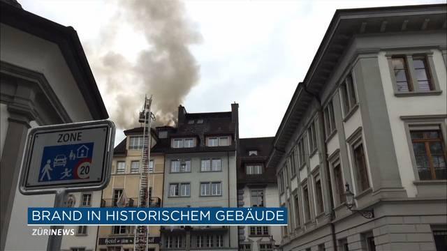 Feuer in der Altstadt von Luzern