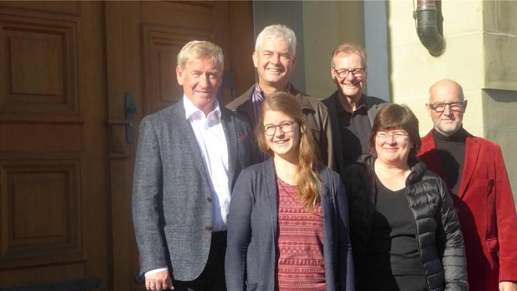 Der Stiftungsrat der Stiftung Kinder- und Jugendtheater Olten mit (von links) Herbert Schibler, Felix Wettstein, Anna Lea Kaspar, Hugo Saner, Monique Rudolf von Rohr und Christian Blaser.