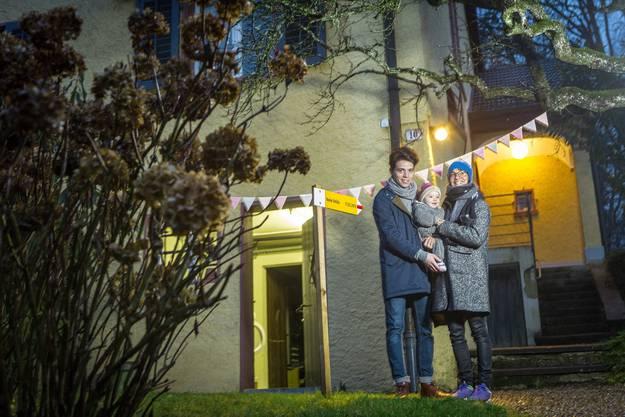 Drei Nationen, ein Schweizer Märzkind: Familie Toretti-Witt in Aarau.