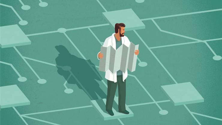 Lösung gefunden: Nach langem Tüfteln wissen Forscher nun, wie sie den ersten grossen Quantencomputer bauen können. Stephan Schmitz