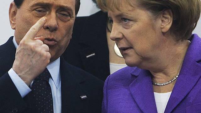 Silvio Berlusconi und Angela Merkel