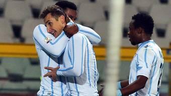 Auch Miroslav Klose reihte sich unter die Lazio-Torschützen