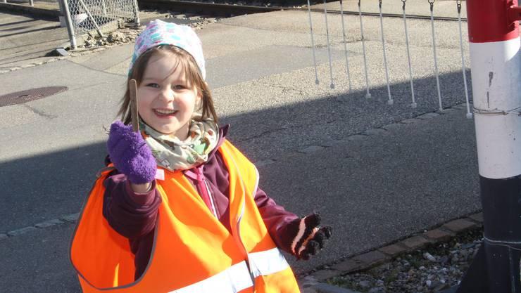 Mia Frey hat am Clean-Up-Day in Schöftland einen Glace-Stängel gefunden.