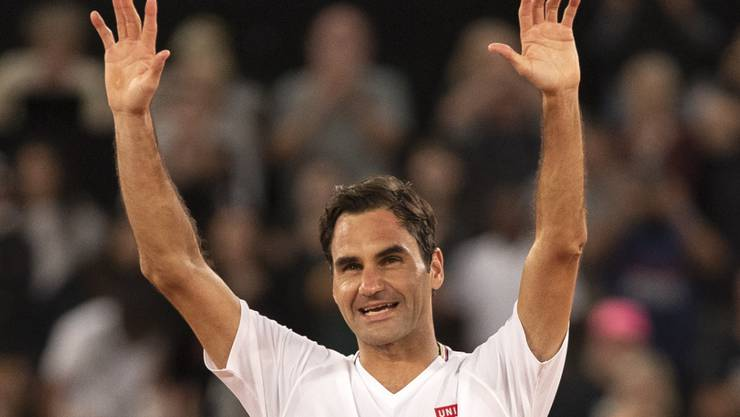 """Roger Federer nach seinem bislang letzten Einsatz am """"Match for Africa"""" in Kapstadt Anfang Februar"""