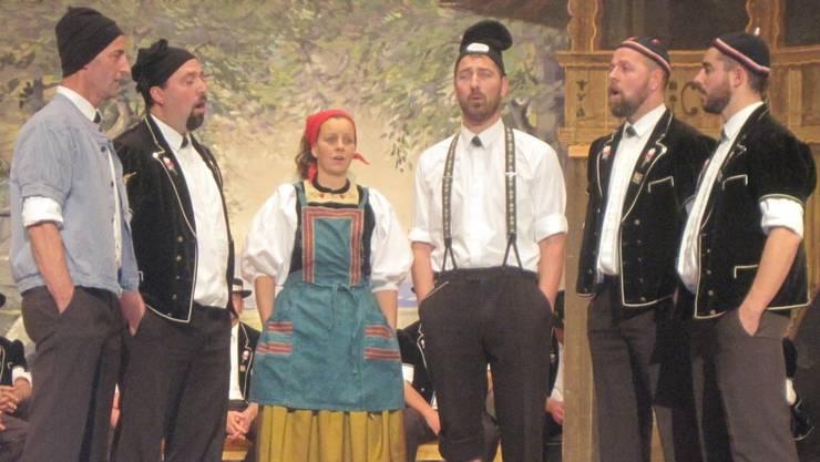 Die Kleinformation des Jodlerclub Passwang erfreute die Zuhörer in der Aula Brühl.