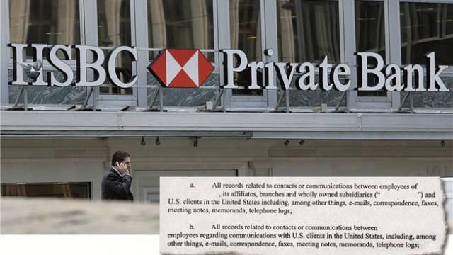Lieferbefehl der US-Justizbehörde an HSBC und Co: Sie will unter anderem E-Mails, Korrespondenzen, Fax, Gesprächs- und Telefonnotizen. Foto: Salvatore Di Nolfi