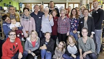 Am Sonntag nach dem «Happy Day»trafen sich die Familienmitglieder aller drei Länder im Velogeschäft der Familie Weidmann zum Essen.