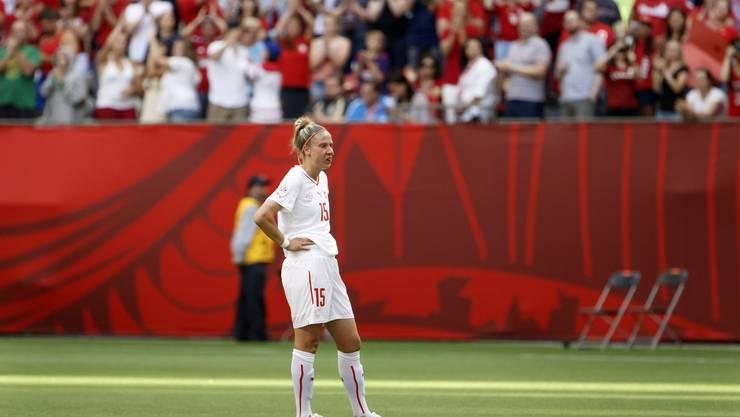 Caroline Abbe starrt ins Leere nach der Niederlage gegen Kanada.