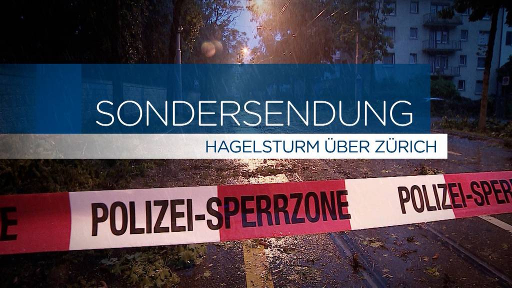 Schwerer Hagelsturm sorgt für Zerstörung in Zürich (Komplette Sondersendung)