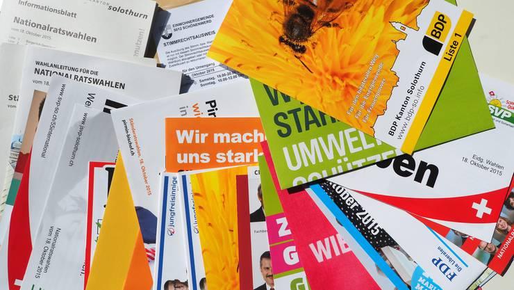 Das Wahlcouvert mit Inhalt zu den diesjährigen Nationalrats- und Ständeratswahlen ist nun angekommen.