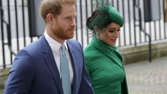 Der britische Prinz Harry und seine Frau Meghan sind Medienberichten zufolge von Kanada nach Kalifornien umgezogen. Das Paar sei mit einem Privatjet nach Kalifornien geflogen, zu dem Zeitpunkt, als Kanada und die USA sich wegen der Corona-Pandemie auf die Schliessung der gemeinsamen Grenze vorbereiteten. (Archivbild)