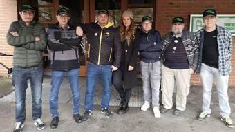 Das Plausch-Team von links: Christian Suter, Jorge Tomas, Daniel Wisard (Leiter), Isabelle Kaufmann, Yannick Brändle, Richard Werlen und Edi Blaser.