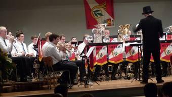 Die Mettauer Musikanten an ihrem Jahreskonzert. – Foto: ari