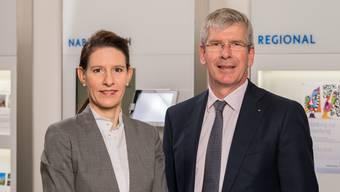 CEO Roland Herrmann und Studienverfasserin Sara Carnazzi.