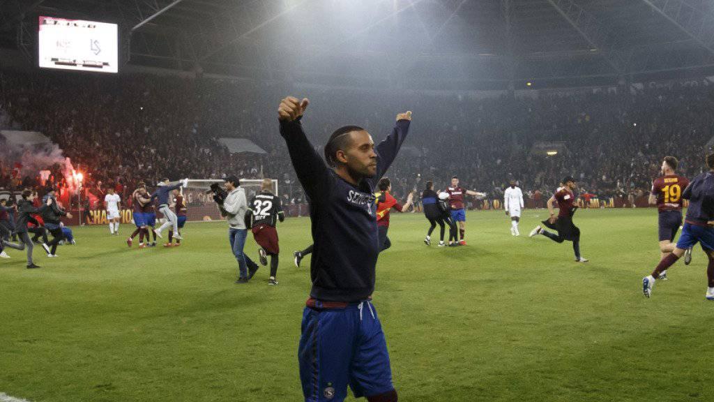 Alexandre Alphonse beendet seine Spielerkarriere mit dem Aufstieg von Servette in die Super League