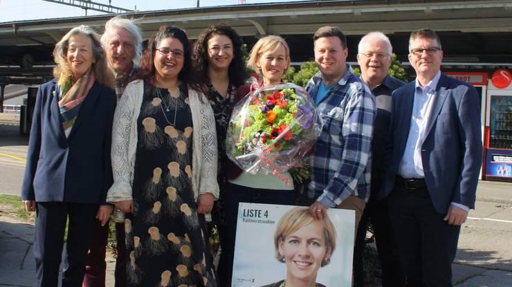 Die Limmattaler GLP feierte ihre wiedergewählte Kantonsrätin Sonja Gehrig.