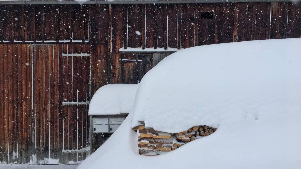 Über das Wochenende soll es in Alt St.Johann kräftig schneien. (Symbolbild)