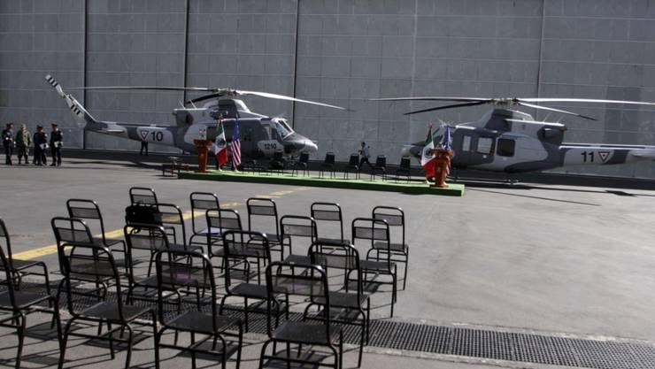 Bei der Unglücksmaschine handelt es sich um einen Helikopter des Typs Bell 412. (Archivbild)