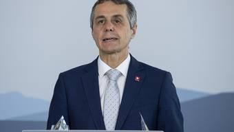 Ungewöhnlich: Bundesrat Cassis warb in seiner Rede zum Nationalfeiertag für ein Nein zur Begrenzungsinitiative der SVP.