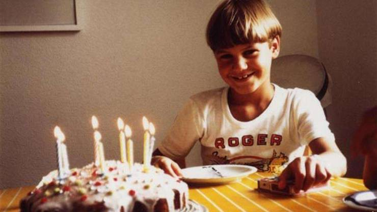 Roger Federer an seinem achten Geburtstag.
