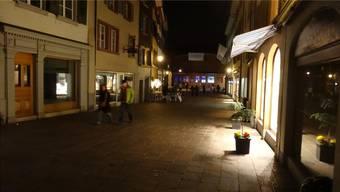 An der Marktgasse in Rheinfelden sind einige Geschäfte geschlossen. ACH