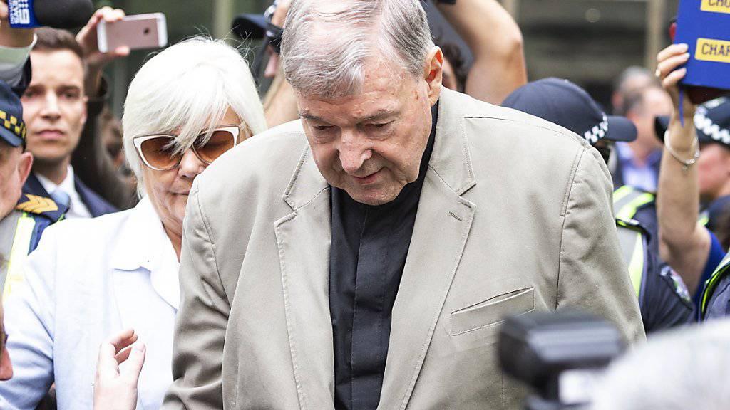 Wurde wegen Missbrauchs von Chorknaben in Australien für schuldig befunden: George Pell, die bisherige Nummer drei im Vatikan. (Archivbild)