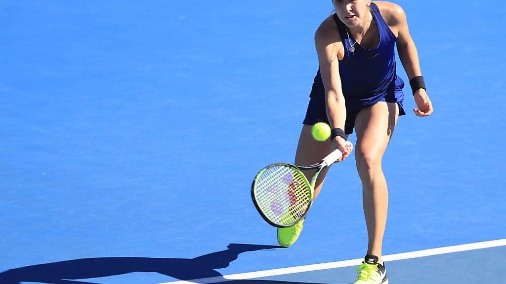 Belinda Bencic verpasste in Hobart den Einzug in ihren achten Final auf der WTA-Tour
