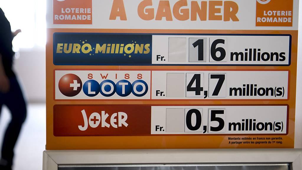 1,1 Millionen Franken hat ein Spieler oder eine Spielerin am Dienstag bei Euromillions gewonnen. (Themenbild)