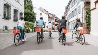 Warum nicht mit einer Werbebox unterwegs sein? Working Bicycle bietet Radlern diese Möglichkeit und offeriert dafür pro Woche gut 20 Franken.