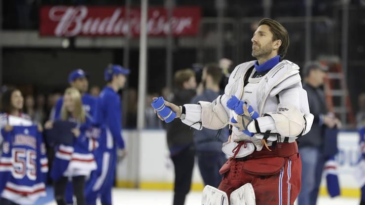 Lundqvist ist der prominenteste Spieler im Kader der Schweden und steht seit 2005 für die New York Rangers auf dem Eisfeld.