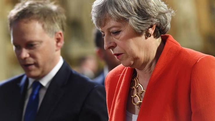 Theresa May nach ihrer dritten Niederlage im Parlament.