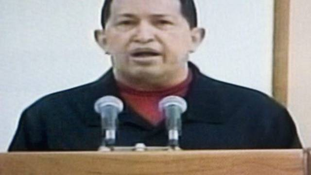 Venezuelas Präsident Chavez bei der TV-Rede zu seiner Krebserkrankung